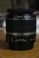 Canon Zoom Lens EF-S 18-55mm 3.5-5.6 IS Like New $100 OBO