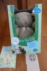 Sleep Sheep on the Go --Plush toy and sleep aid