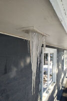 Roof snow removal Ice damming removal Roof leaks
