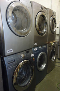 FRONT LOAD/LOADING WASHERS DRYERS SETS STACKABLE with WARRANTY!!