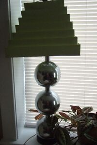 Mid-Century Chrome Ball Table Lamp
