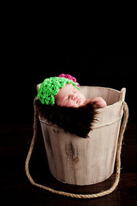 Baby Photography Props Newborn Girl Flower Hat Hand Crocheted
