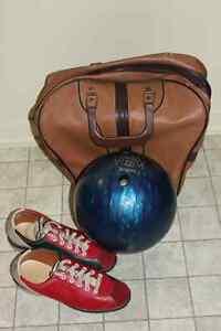 Boule de quilles pour femme, avec souliers des 7 et sac !