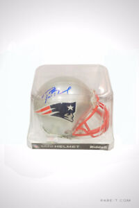 'PATRIOTS - TOM BRADY HAND SIGNED' Mini Football Helmet