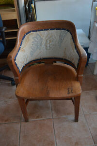 Wooden upholstered chair for sale Windsor Region Ontario image 2