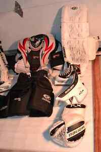 goalie equipment used one year