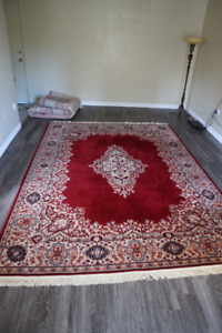 """PERSIAN WOOL RUG RUBY RED  10"""" x 8'"""