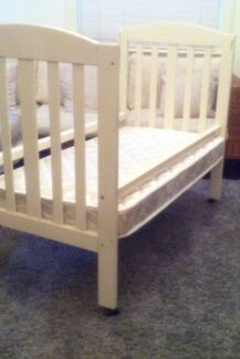 Cot with Mattress  Westbourne Park Mitcham Area Preview
