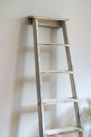 Upcycled wooden towel/clothes ladder