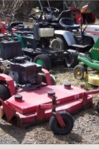 We pay the most cash for lawnmowers