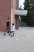 One on one technical soccer training