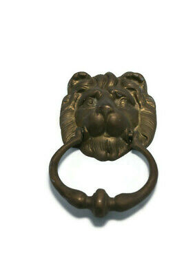 Details about  /Unusual Vintage Brass Lions head door Knocker  Measures 16 cm tall by 7 cm wide
