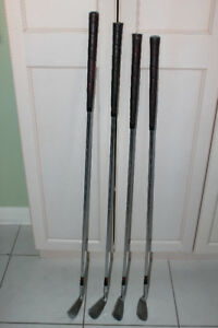 GOLF CLUBS, RIGHT HANDED, IRONS #3, 5, 7, 9, SAND WEDGE PUTTER