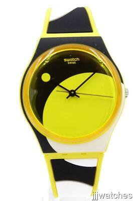 New Swatch Swiss Originals D-FORM Yellow Silicone Watch 34mm GJ139 34mm $70