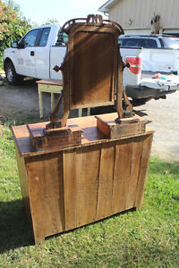 Old 3 Drawer Dresser with Mirror London Ontario image 7