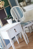 White Shabby Chic Table with Dove Tail Drawer.