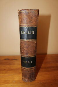 Ancient History by Charles Rollin 1856 London Ontario image 1