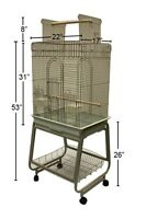 Open Top Parrot Cage with Balcony and Stand