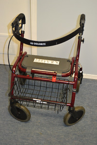 DOLOMITE ROLLING WALKER with seat, Backrest and basket