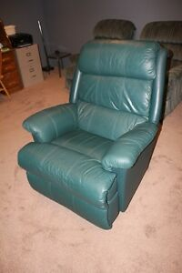 Green Oversized Lazyboy recliner