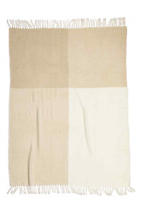 BRAND NEW H&M White and Gold Blanket