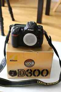 Nikon D300 with accessories & lense