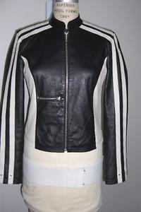 Manteau cuir Style Moto,Femme ,marque OHYHO