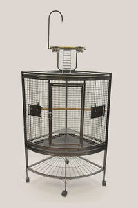 Corner Parrot Cage with Play Top for Medium Large Bird Parrot