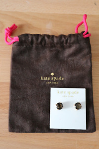 Brand New Kate Spade Brown Stud Earrings