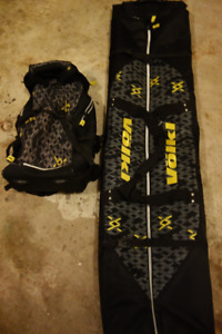 Volkl Backpack and Padded Double Ski or Snowboard Bag Combo