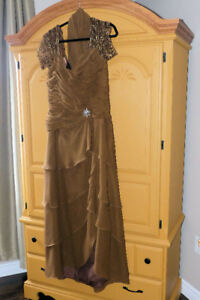 Brown Mother of the Brides Dress Size 12-14