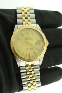 Rolex Datejust Thunderbird 18K Yellow Gold & Steel 16253