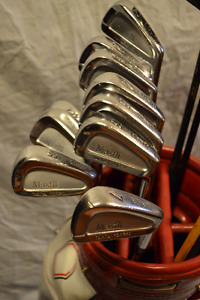 Dunlop maxfli LTD irons , staff bag full set
