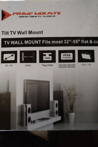 BNIB Tilt TV Wall Mount (PMDT100) + 6ft HDMI Cable with Ethernet