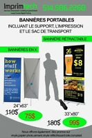 Portable  BANNER STAND99$ X stand print included 75$