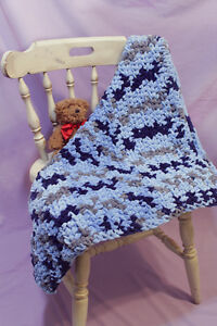 Handmade Chenille baby blanket (crochet) Peterborough Peterborough Area image 3