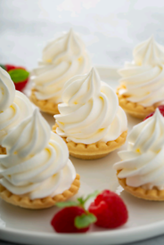 Catering supplies cream crackers (chargers)