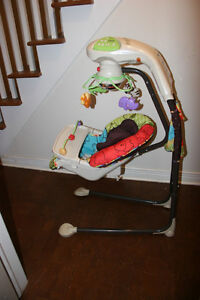 Fisher-Price My Little Lamb Cradle 'n Swing. Everything works.