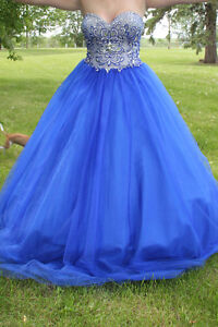 Royal Blue Grad dress - fits 6-10