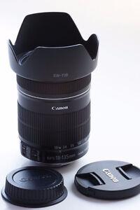 Canon 18-135mm IS Stabilizer STM comm neuve + pare soleil