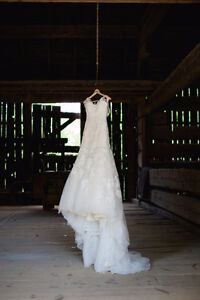 Lace and Organza Enzoani Wedding Gown