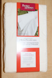 Better Homes and Gardens 2 King Size Pillowcases