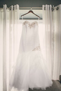 White Fit and Flare Wedding Dress