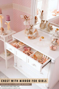 Drawer Chest with Mirror for Girls