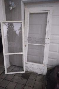 Door - 31(w) x 80, Screen Door, Wood, White, Full Lite, Vintage