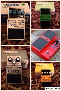Boss and Digitech pedals and Pedaltrain Pro