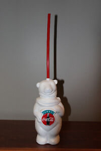 Coca-Cola Polar Bear plastic drink holder-Always Coca-Cola