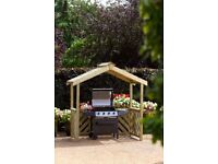Anchor Fast Exmouth BBQ Wooden Shelter - like new