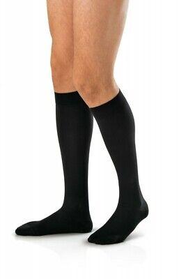 Jobst for Men 15-20 Closed Toe Knee High Ribbed Compression Socks - Black ()