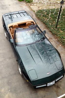 1990 corvette roadster,Dark Green on Tan Leather Interior